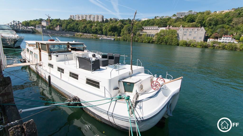 L'IMMOBILIER OFF - Tjalk à vendre Saône