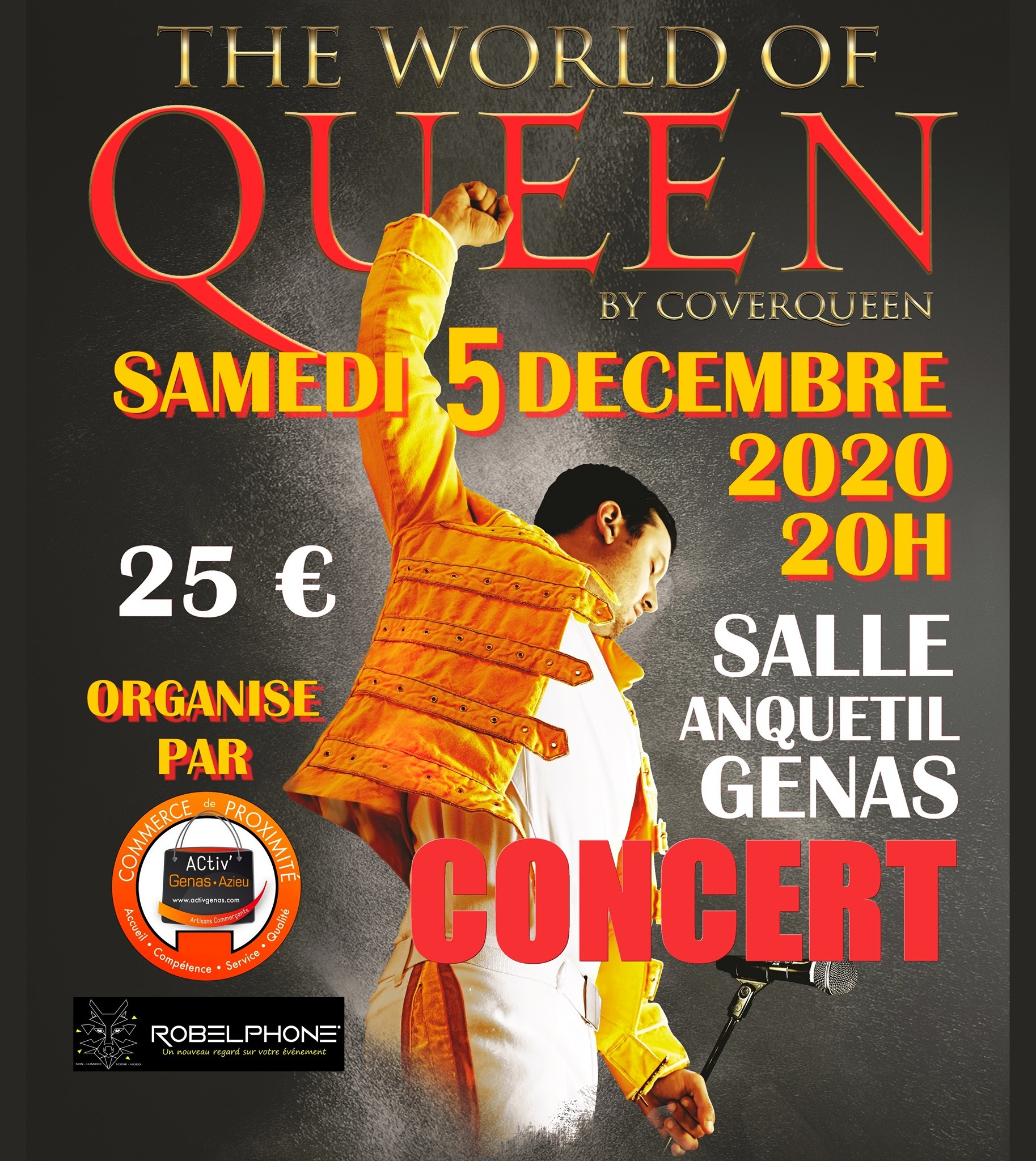 L'immobilier OFF - Concert CoverQueen Activ Genas 2020