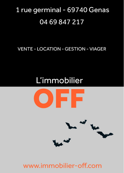 L'immobilier OFF - Tract Haloween 2020