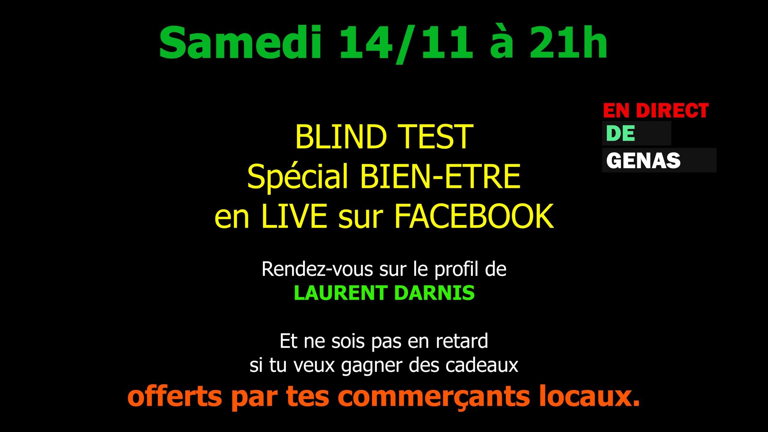 Blind Test Facebook Live genas Bien être