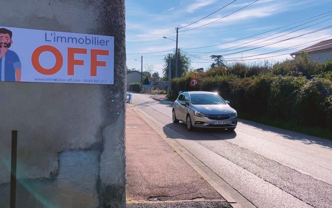 L'immobilier OFF - Panneau à vendre